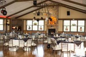 Party inside carriage house at Drumore Estate