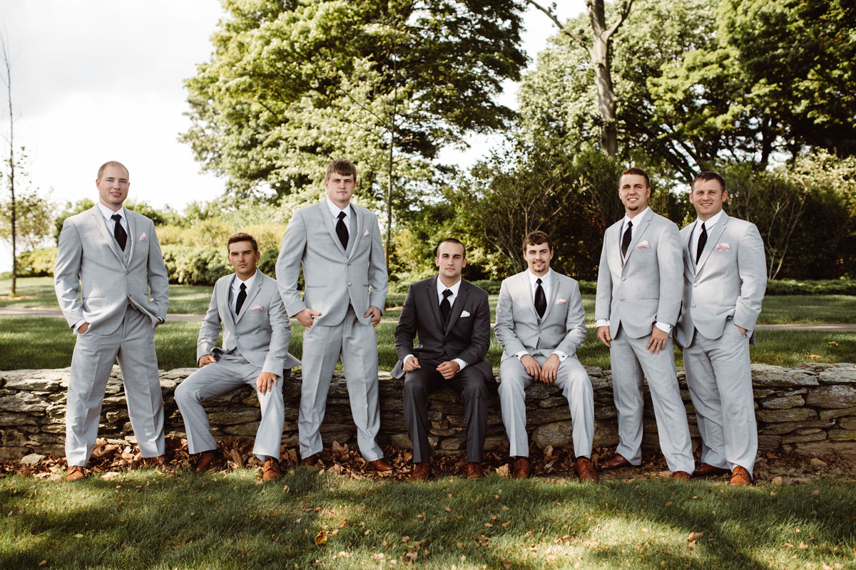 Groomsmen, light grey suits - Wedding Day Photos - Drumore Estate