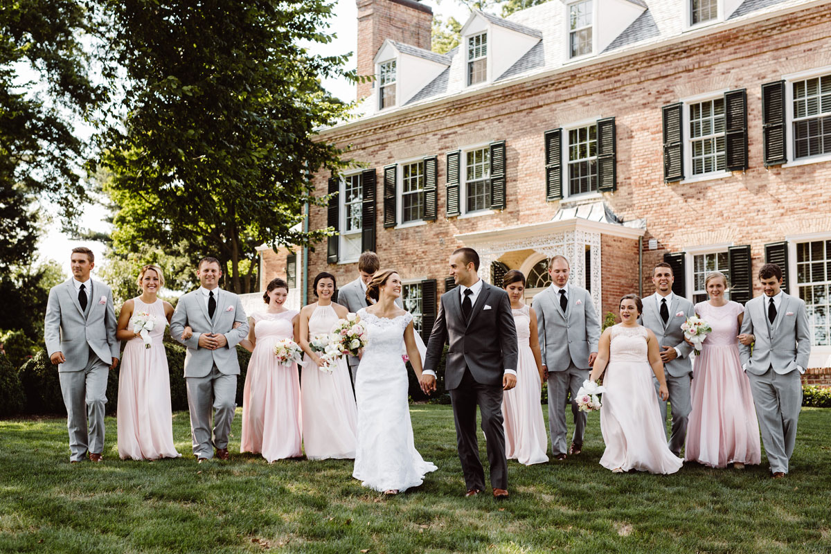 Blush & Grey Wedding - Bridal Party Photos - Drumore Estate