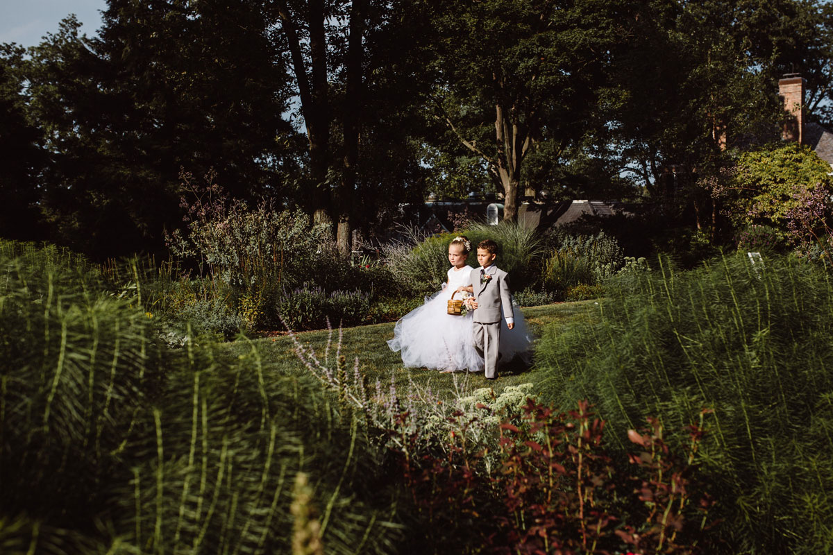 Flower girl & ring bearer - Garden Wedding - Drumore Estate