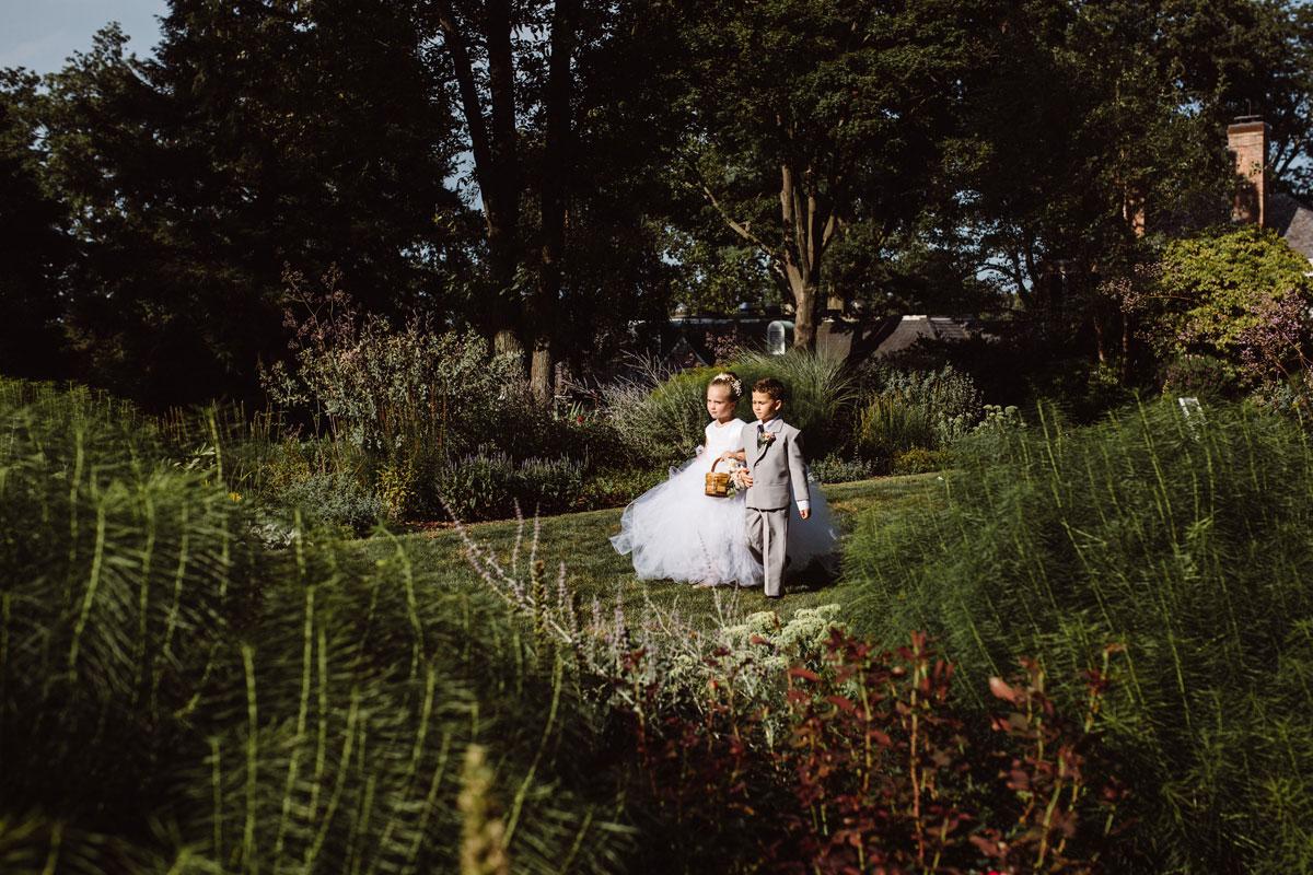 Flower girl & ring bearer - Garden Wedding - Drumore Estate