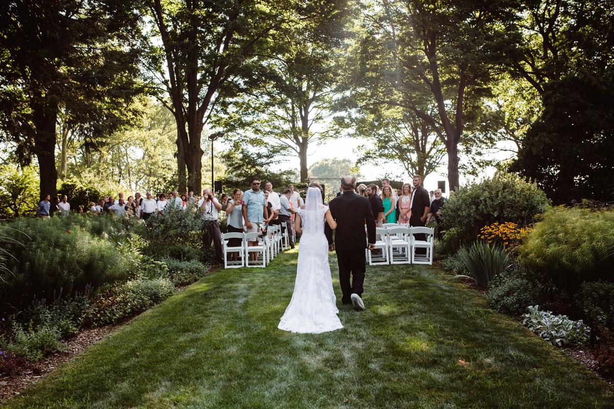 Garden Wedding Ceremony - Drumore Estate