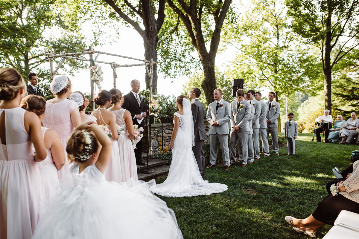 Garden Wedding Ceremony - Drumore Estate