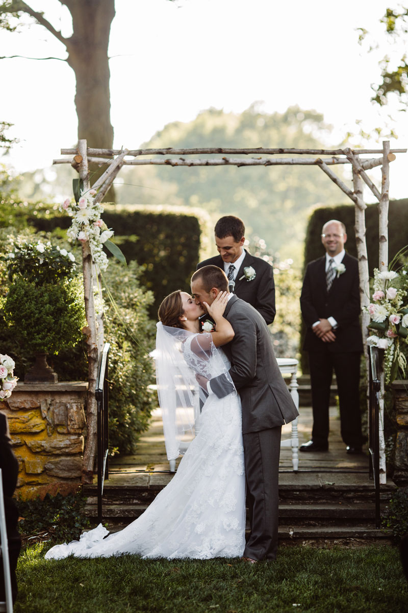 Kiss - Garden Wedding Ceremony - Drumore Estate