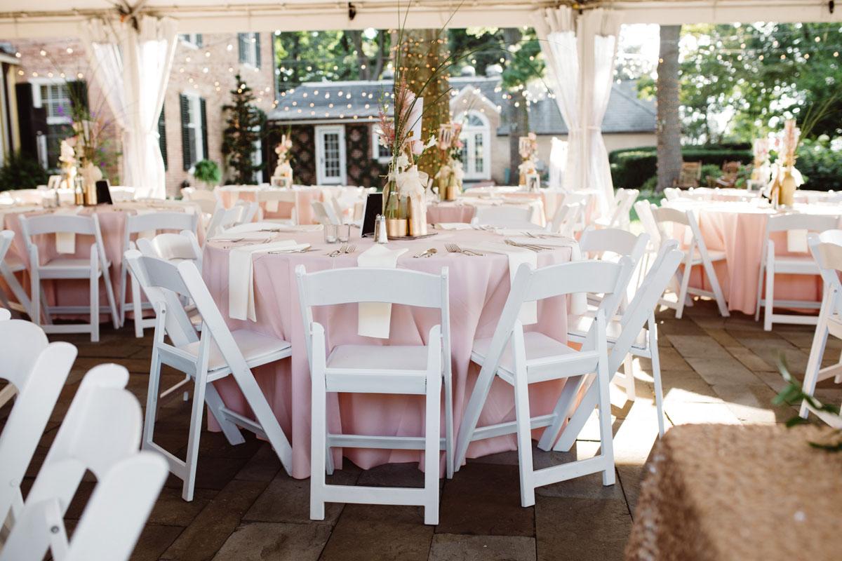Pink & Gold Wedding - Tented Reception - Drumore Estate Lancaster PA