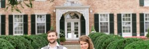 Bride and groom outside of Drumore Estate