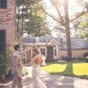 First Dance on the Flagstone Terrace at Drumore Estate wedding venue