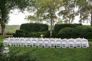 Garden Table Setup