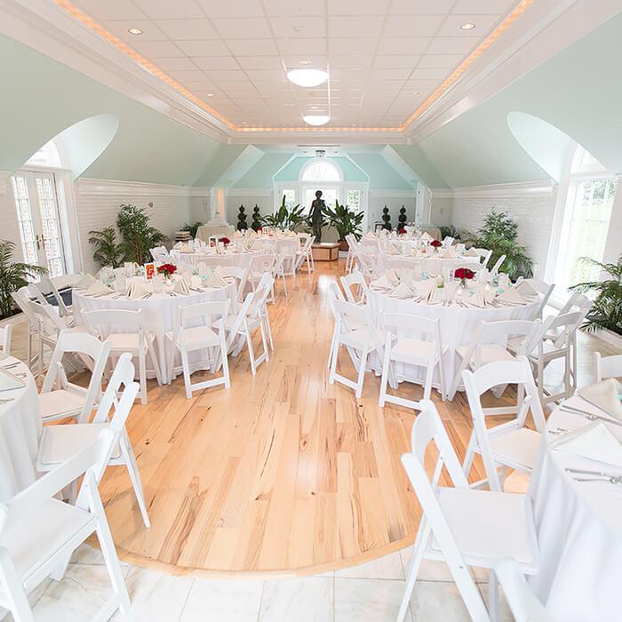 wedding dining setup