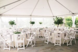 Wedding Reception Accented with Greenery