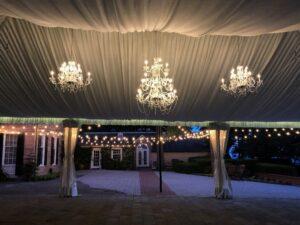 Wedding Reception Tent with Moody, Romantic Lighting