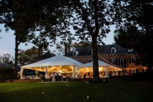 Outdoor Wedding with Large Tent