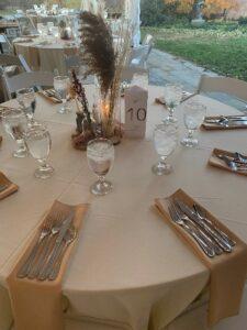 DIY Wedding Reception Center Pieces